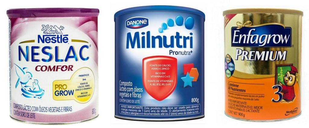 Fórmula infantil, composto lácteo ou leite